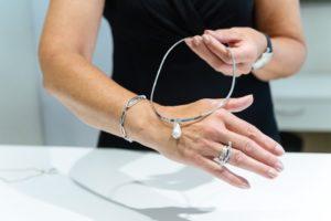 Schmuckset von Juwelier Eder in silber mit Perlen