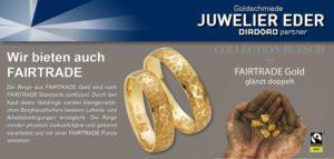 Juwelier Eder bietet Schmuck in Faitrade Qualität