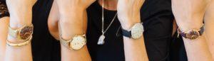 Juwelier Eder Vier Uhren am Handgelenk